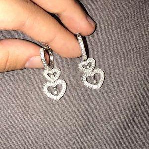 Jewelry - Real diamond heart earrings